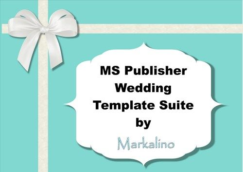 MS Publisher Wedding Invitation Template Suite in Tiffany Blue - ms word invitation templates