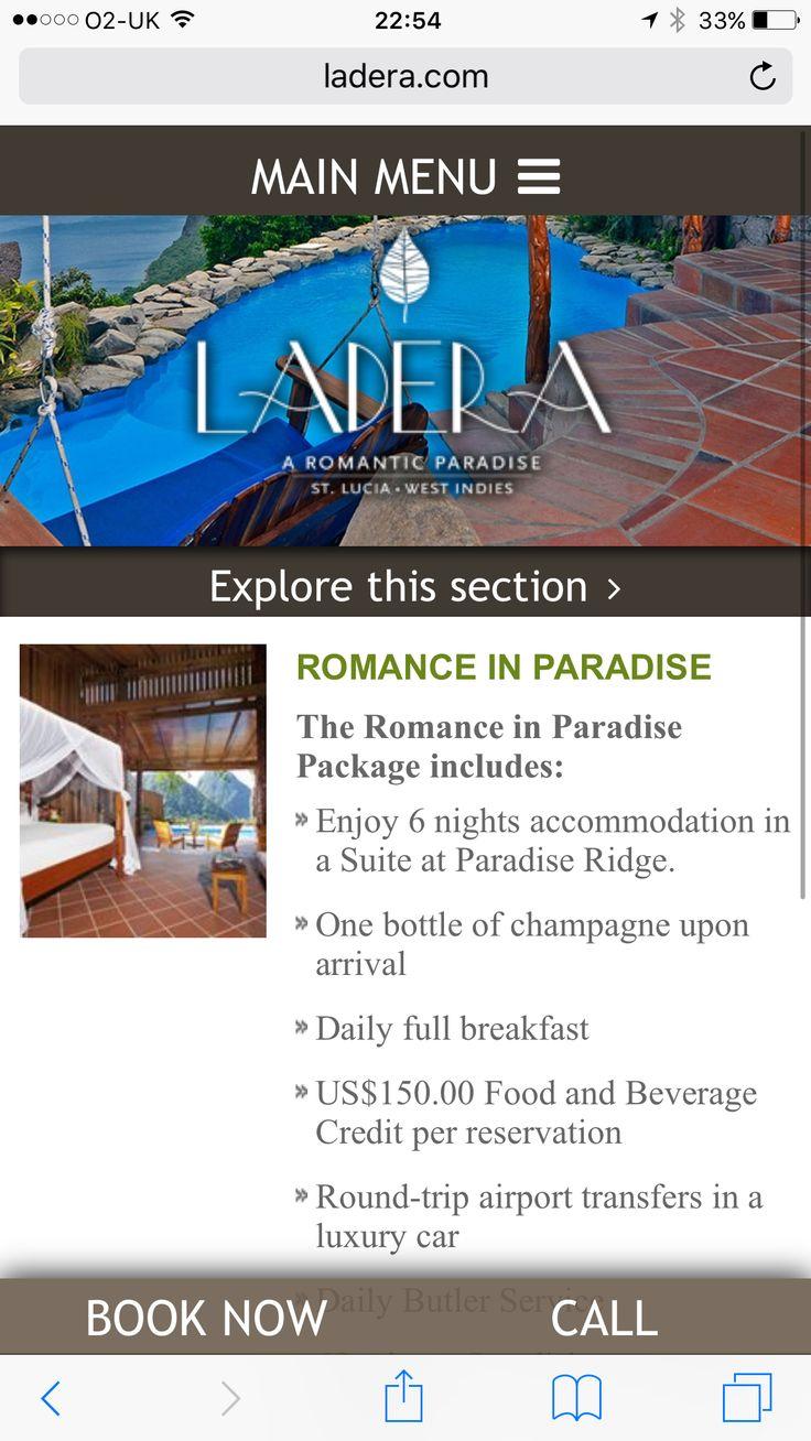 Honeymoon idea ladera st Lucia