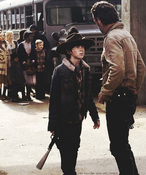 Carl and Rick       #TheWalkingDead