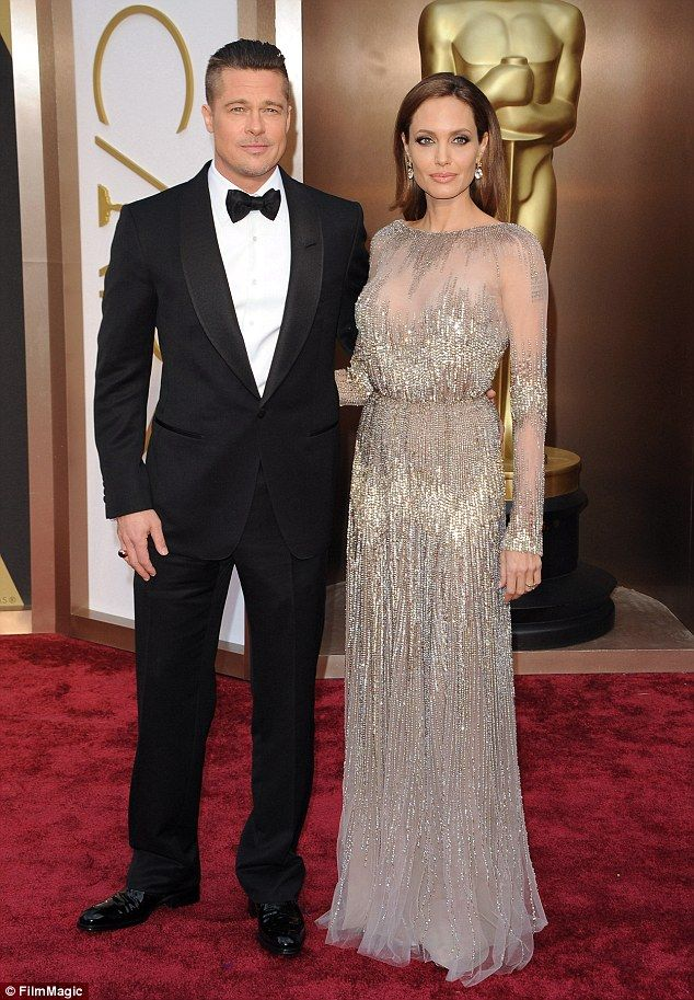 Unsuccessful: A judge denied Brad Pitt's request for an emergency hearing on Wednesday. The star had wanted his custody battle with Angelina Jolie be kept private. The former couple are pictured 2014