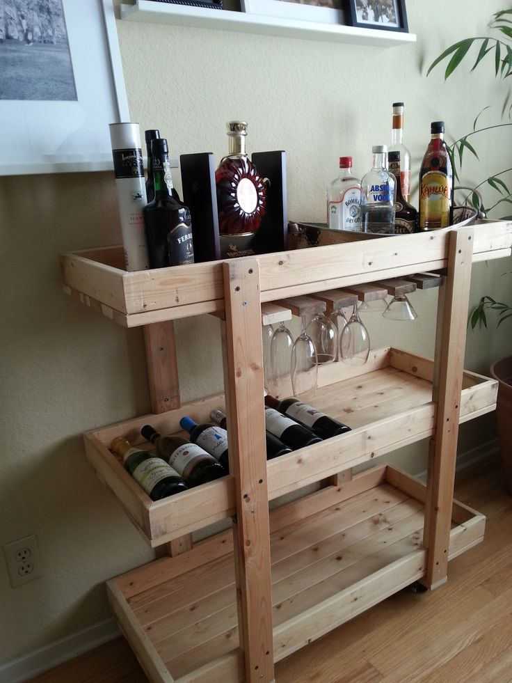 Allen Lau shares the how-to for a charming bar cart made of scrap wood. Not only does this new piece of furniture hold alcohol, it stores s...