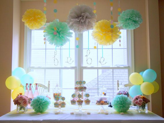 Mint IceCream DIY Party Decoration Package with 12-Person Tableware