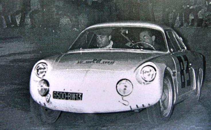 1962 Tour de Corse: Alpine-Renault A108 of Blanc