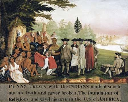 Penns Treaty With The Indians