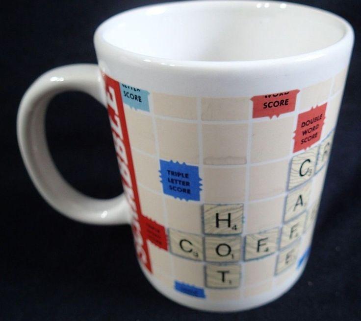 HASBRO SCRABBLE Mug Hot Chocolate Cocoa Board Game Theme 4 in tall 12 oz #Hasbro