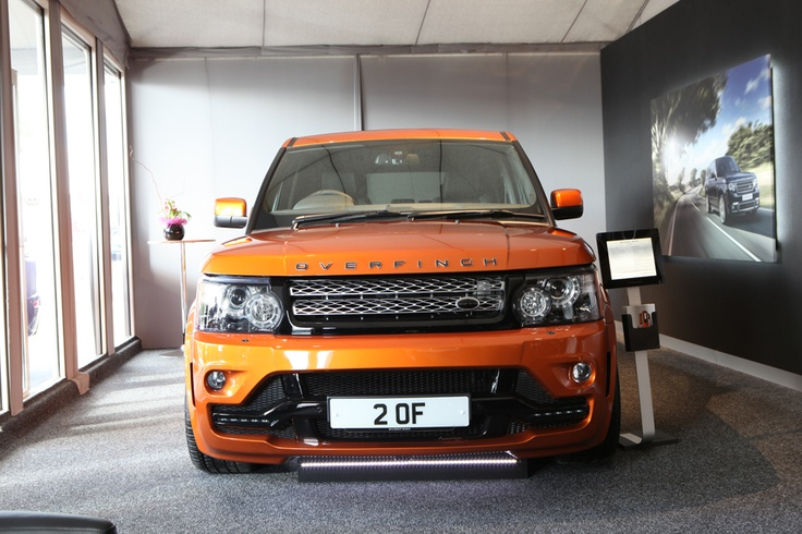 The first front-on photograph of the Overfinch Range Rover Sport GTS-X taken on the stand