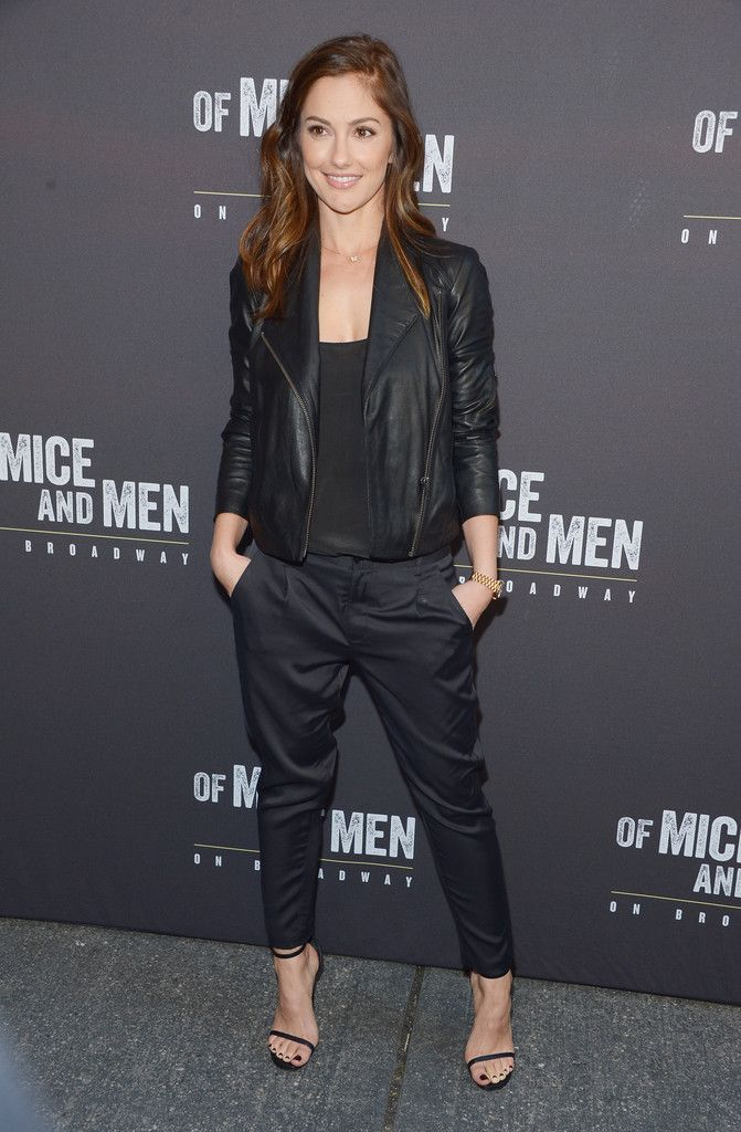 Minka Kelly rocked an amazing menswear-inspired outfit that was all about downtown chic.
