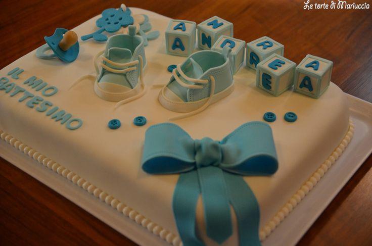 Torta per il battesimo di un bimbo battesimo pinterest torte - Decorazioni battesimo bimbo ...