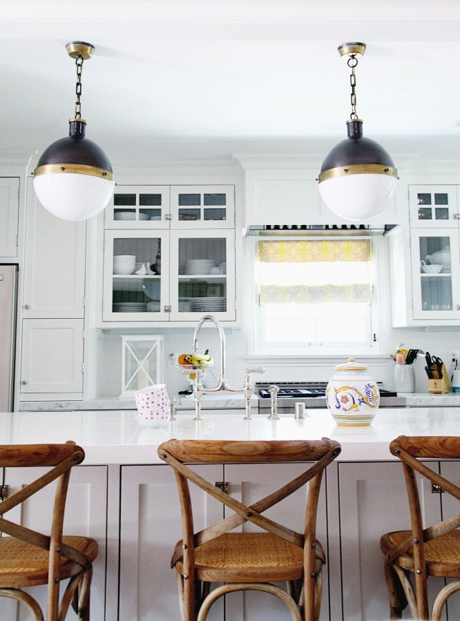 We could live in this kitchen all day every day: http://www.stylemepretty.com/living/2014/10/07/traditonal-home-with-a-chic-twist/ | Photography: Sabra Lattos - http://sabralattos.com/