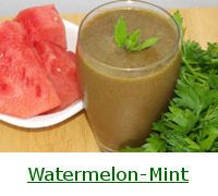 Watermelon-Mint Green Smoothie