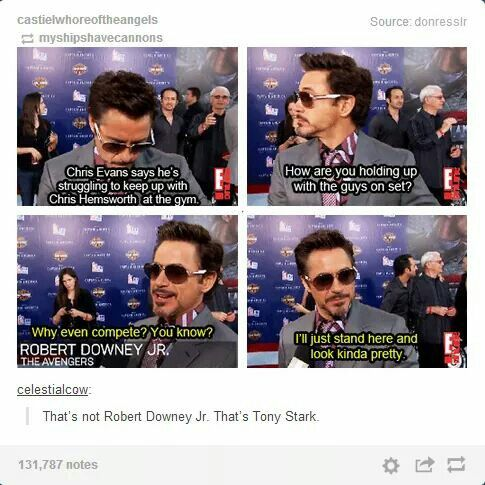 RDJ vs. Tony. There's no difference.