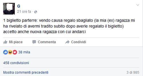 """#Emilia Romagna: #Concerto Red Hot: fidanzato tradito vende biglietto Facebook \""""impazzisce\"""" da  (link: http://ift.tt/1T71QvA )"""
