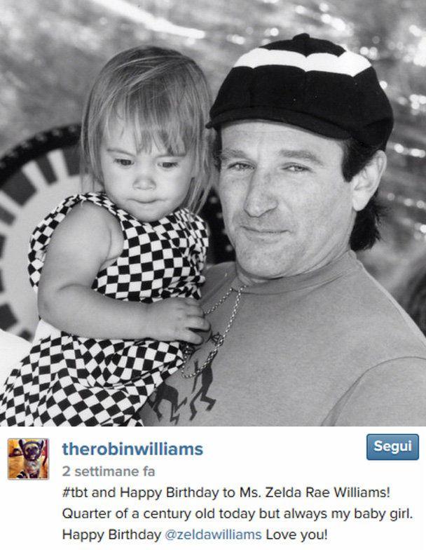 Robin Williams - L'ultimo messaggio dedicato alla figlia