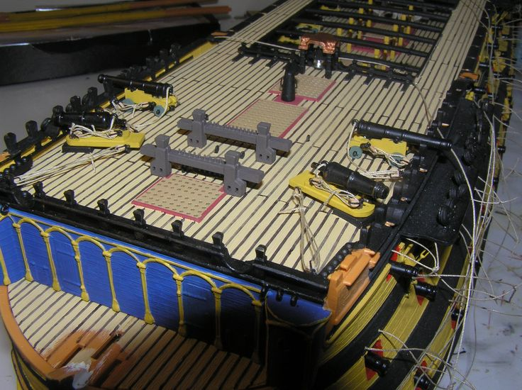 Update photos of Ian's HMS Victory kit by Heller. Very nice work!