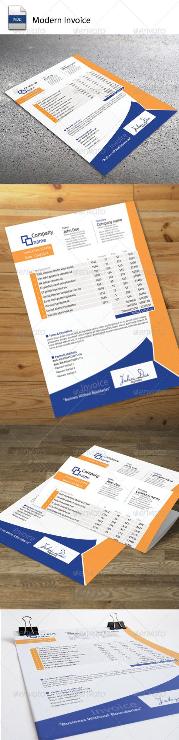 free proposal template%0A Invoice Moderna