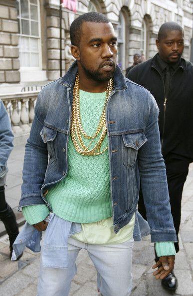 Kanye West Out At London Fashion Week