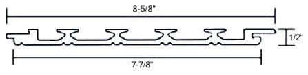 PVC Beadboard Planks Details