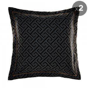 Set of 2 Black Yuko European Pillowcases