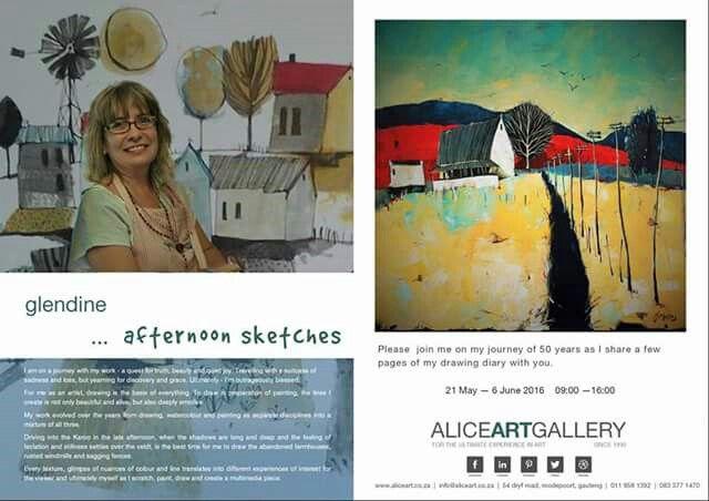 Exhibition by artist Glendine at Alice Art Gallery