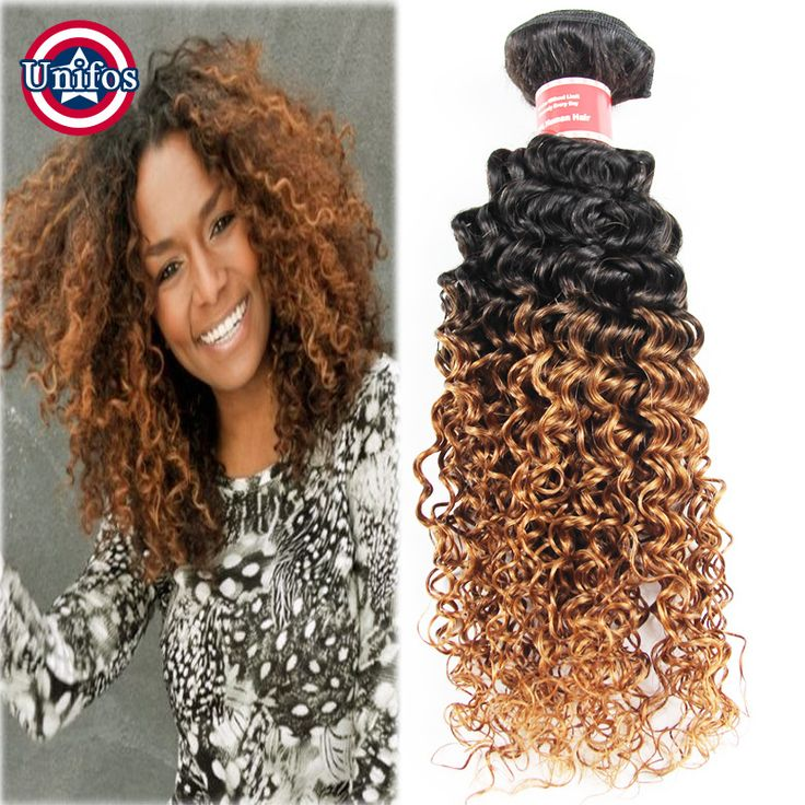 Find More Human Hair Extensions Information about Ombre Brown Brazilian Hair Jerry Curl Virgin Ombre Hair Extensions 4 Bundle 1b 30 Two Tone Brazilian Weave Hair Curly Human Hair,High Quality hair color black hair,China hair ups Suppliers, Cheap hair light from Unifos Hair Products Co.,Ltd. on Aliexpress.com