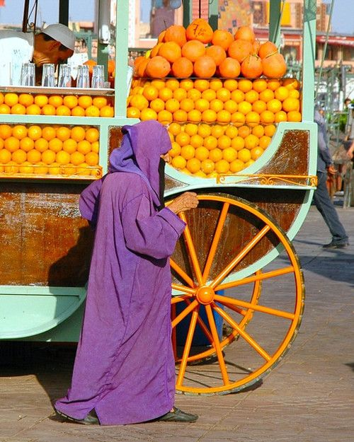 Fruit stall in Jemaa el Fna, Morocco colour by Tim Moss on Flickr. The colours in this picture are beautiful.