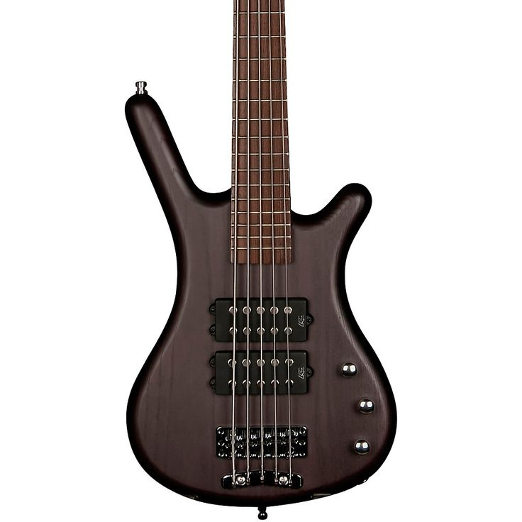 RockBass by Warwick Corvette $$ 5-String Electric Bass Guitar with Wenge Fingerboard Nirvana Black Oil