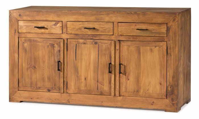 #aparador #rústico de madera maciza de pino color anogalado ref: 50062. Más información en Rústico Colonial:http://rusticocolonial.es/mueble-rustico-y-mueble-mejicano-de-gran-calidad-al-mejor-precio