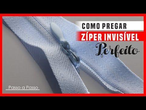 DIY : Colocando zíper invisível com sapata de zíper comum- aula 17 - YouTube