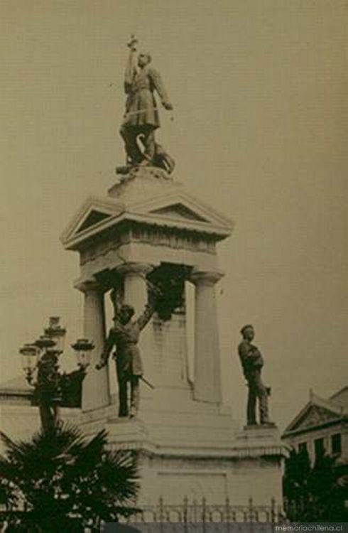 Monumento a Arturo Prat, ca. 1906