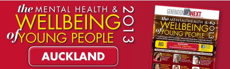 The Mental Health and Wellbeing of Young people 2013 - conference in July.