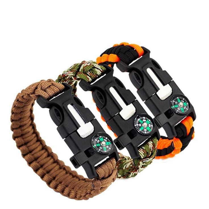 1.64$  Buy here - 5 in 1 Emergency Survival Bracelet Compass Paracord Bracelets For Men Outdoor Camping Wristband Flint Fire Wrap Bracelet Homme   #bestbuy