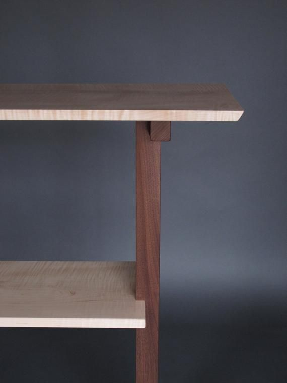 Console Table Narrow Hall Table Entry Table Handmade Wood Furniture Continental Collection Designer Console Table Handmade Wood Furniture Custom Wood Furniture