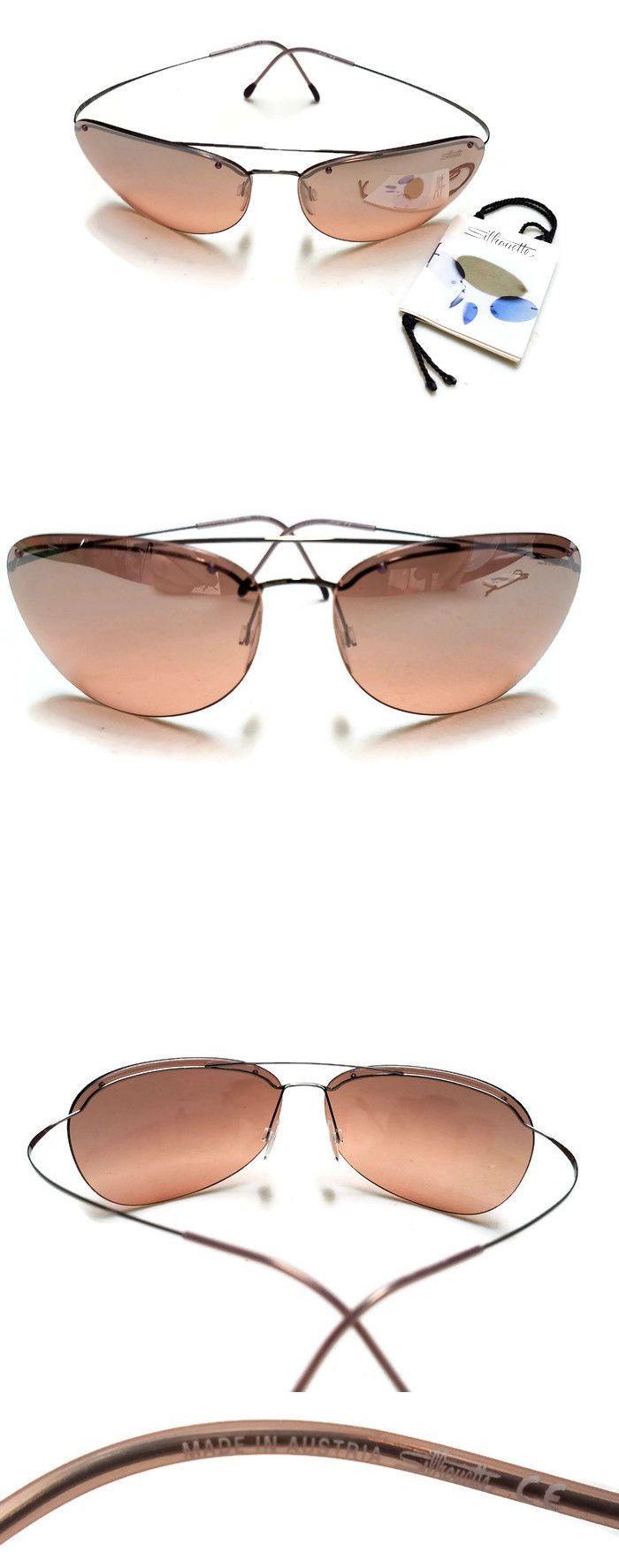 Eyeglass Cases: Vintage Silhouette Sunglasses Titan Rimless Polarized M8575/65 V 6063 BUY IT NOW ONLY: $219.0