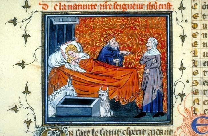 Nativité Guillaume de Digulleville (1295?-1380?),Pèlerinage de Jésus-Christ.Paris, 1393Paris, BnF, département des Manuscrits occidentaux, français 823, fol. 182