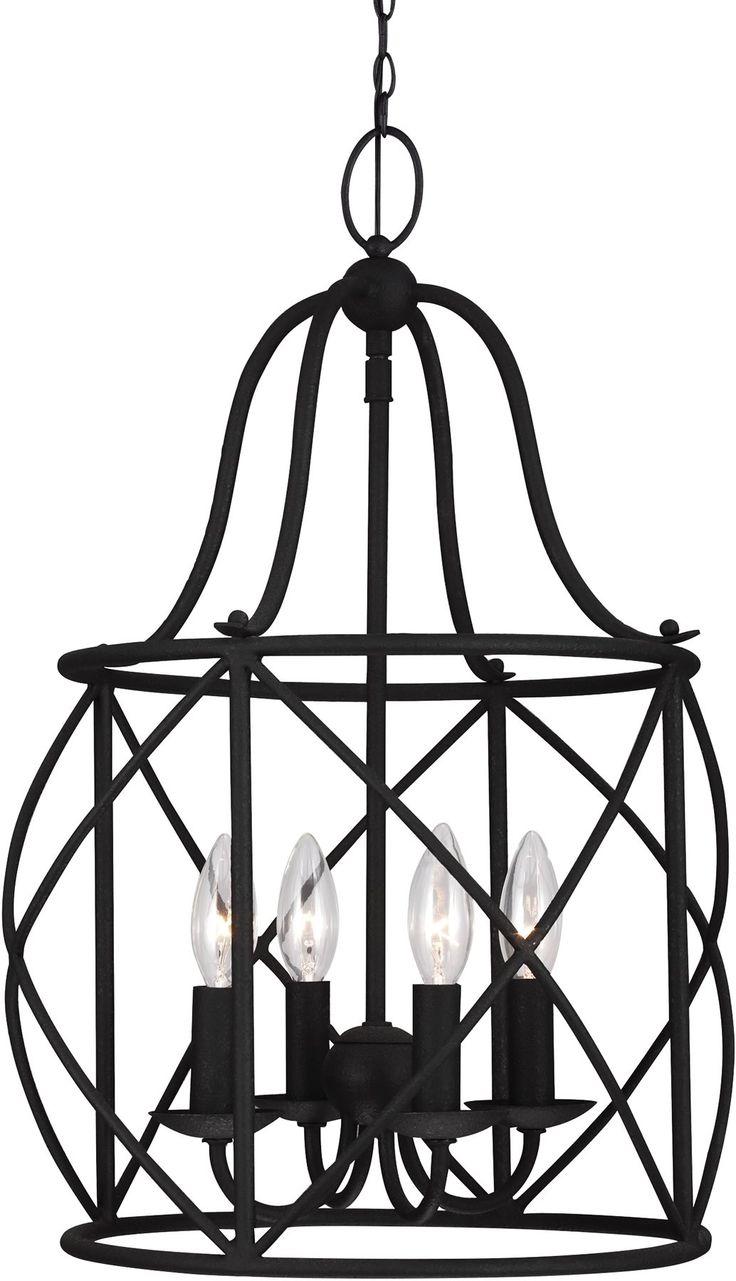 0-025730>Turbinio 4-Light Hall Foyer Pendant Blacksmith
