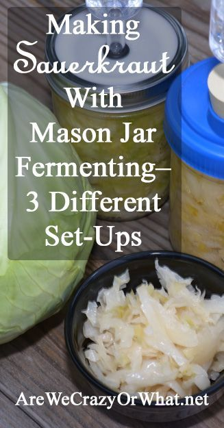 I look at 3 Mason jar fermenting set-ups--Fermentools, Re-Cap and Tattler lids. Also I give you my recipe for sauerkraut. #beselfreliant