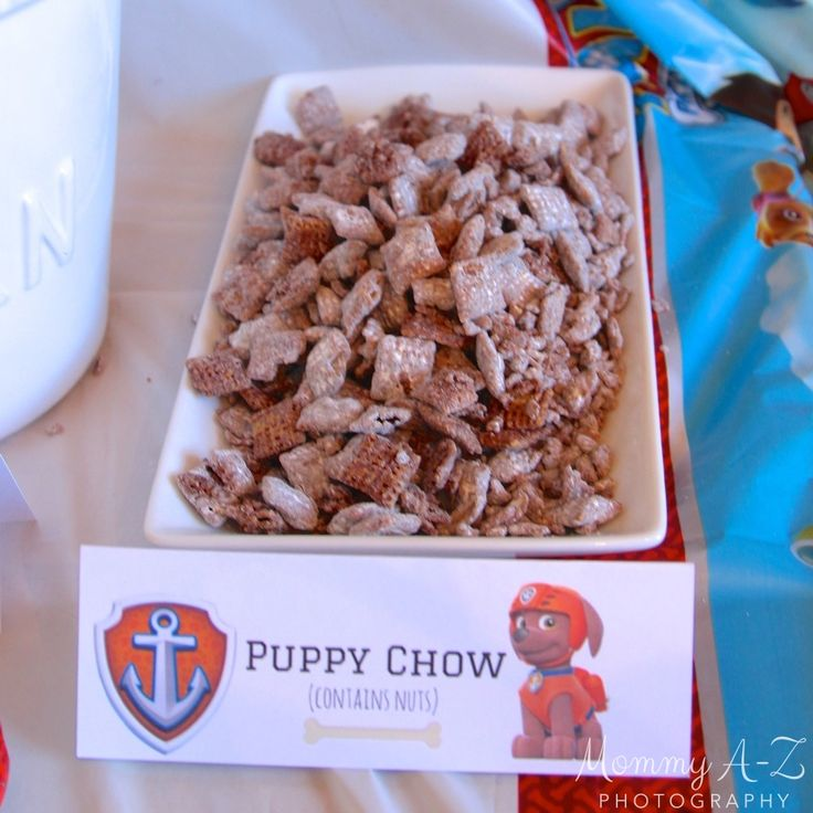 Paw Patrol Birthday Party - Food Label - Free Printable - Puppy Chow