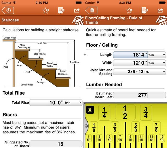 home improvement calcs app