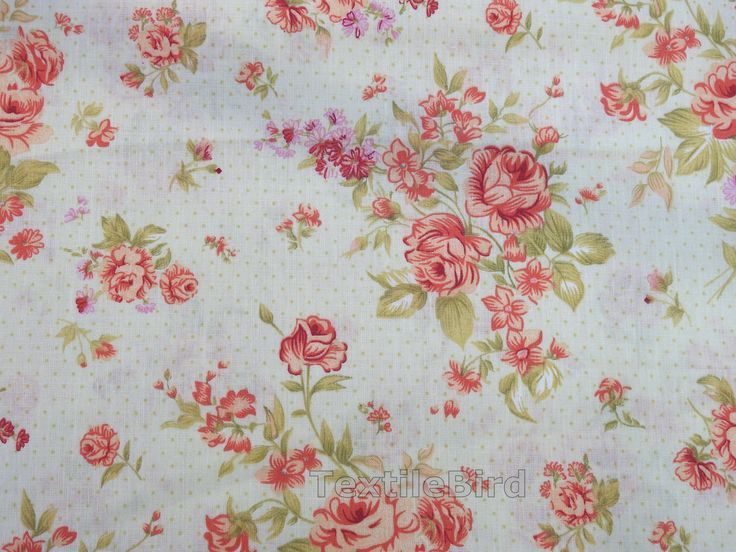 Rose Bouquet, Vintage-long quarter - High quality cotton fabric. You can use for quilting and other craft projects.