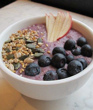 The Porridge Cafe, London >>> Rye porridge blueberry and apple compote served with fresh blueberries, stem ginger and pumpkin and sunflower seeds >>> gotta try this!