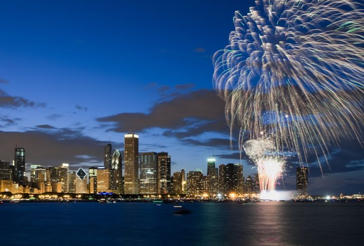 Chicago Fireworks On Fourth Of July: