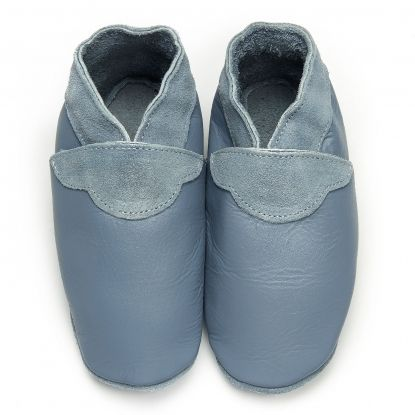 Ciel d'orage  - chaussons en cuir souple unis pour tous - disponible du 16 au 49 / Soft shoes for the family - from 16 to 49  #chausson #chaussoncuir #chaussonbebe #chaussonadulte #cuirsouple #softshoes #fathersongift