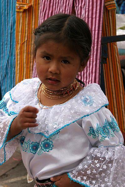 Otavaleña girl from Ecuador