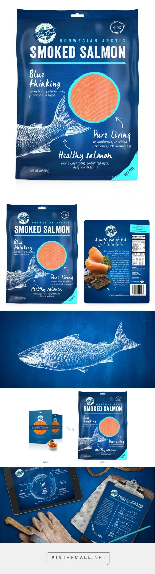 Blue Circle Seafood Redesign on Packaging of the World - Creative Package Design Gallery... - a grouped images picture - Pin Them All