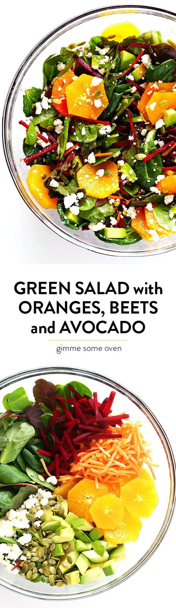 Green Salad with Oranges, Beets and Avocado -- easy to make, tossed with a balsamic vinaigrette, and so fresh and delicious! | healthy recipe ideas @xhealthyrecipex |