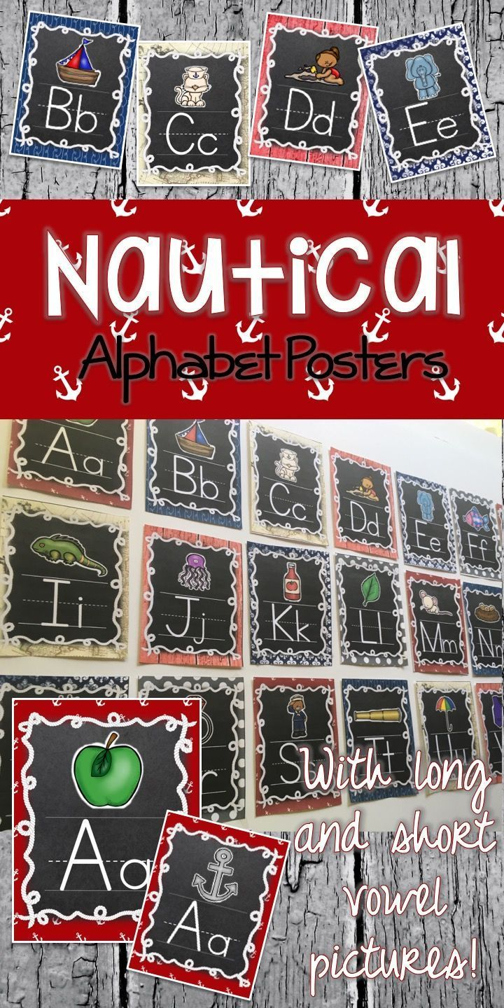 This is a set of Nautical or Sailing Printed Alphabet posters. These posters are a must have to any classroom with a Nautical Classroom Decor Theme.