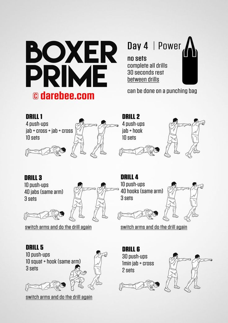 Push-ups into boxing combinations. Boxer Prime: 30-Day Fitness Program