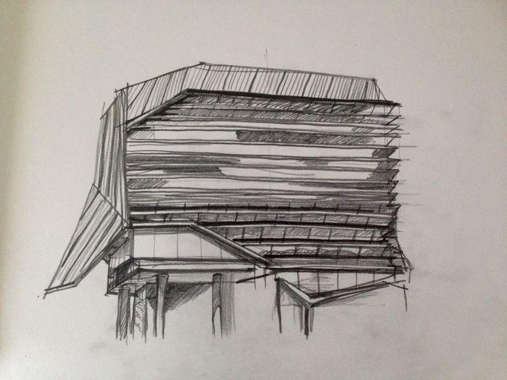 Jeffrey Smart Building Observational Drawing