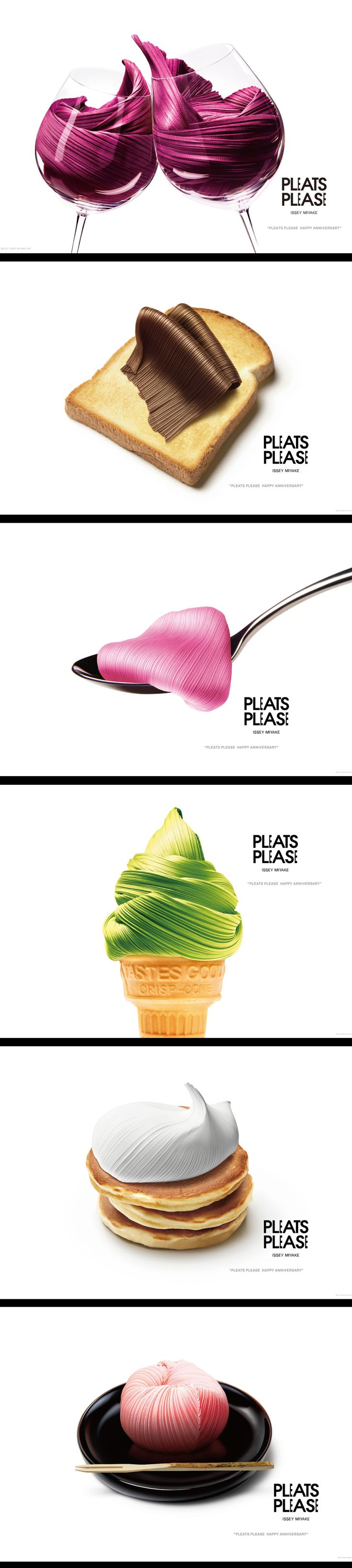 "For 2012, the 20th anniversary year of PLEATS PLEASE ISSEY MIYAKE, the ""delicious"" collection"