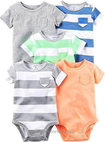 Carter's Baby Boys Multi-Pk Bodysuits 126g626, Blank, 6 Months Baby BUY NOW $26.00 Carter's 5 Pack Rugby Stripe Bodysuits – Blank Carters is the leading brand of children's clothing, gifts and accessories in A .. http://www.joysforkids.top/2017/03/08/carters-baby-boys-multi-pk-bodysuits-126g626-blank-6-months-baby/